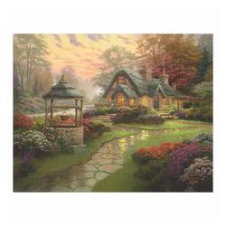 Schmidt Spiele Puzzle Haus mit Brunnen Thomas Kinkade, 1000 Puzzleteile