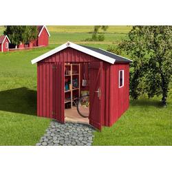 weka Gartenhaus Schwedenhaus, BxT: 277x286 cm rot