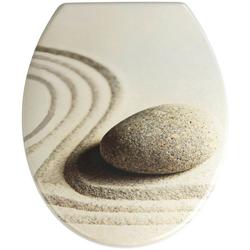 WENKO WC-Sitz Sand and Stone, Duroplast