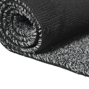 Carpeto Rugs Kunstrasen Rasenteppich für Garten Balkone Terrassen Wintergärten mit Drainage - Höhe: 6 mm Meterware Wasserdurchlässig - Grau Schwarz 300 x 230 cm
