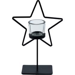 Kerzenhalter STAR - Teelichthalter mit Stern 29cm - Weihnachtsdeko Dekoration Weihnachten