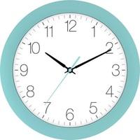 EUROTIME 88800-08-1 Quarz Wanduhr 30cm x 4.5cm Kristallblau (dunkel) Schleichendes Uhrwerk (lautlos)