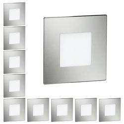 LED Treppen-Licht FEX Stufenbeleuchtung, eckig, 8,5x8,5cm, 230V, rot, 10 Stk.