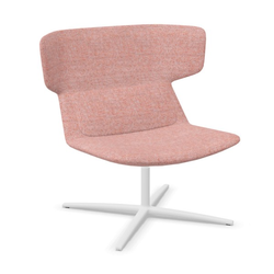 LD Seating FLEXI Loungesessel F27-N0 Gestell weiß