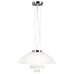 Design Hänge Leuchte Kristall Decken Lampe Wohn Zimmer Beleuchtung Pendel weiß klar Globo 15619-3