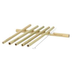 Zuperzozial Strohhalme Bambus 6-tlg. Set