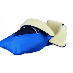 ERST-HOLZ Schlitten 24.30-W-blau, 24.30-blau Fußsack mit Lammwolle Winterfußsack Schlittensack für Schlitten oder Kinderwagen