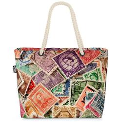 VOID Strandtasche (1-tlg), Briefmarken Post Sammlung Briefmarken Post Sammlung Brief Sammeln Alb bunt