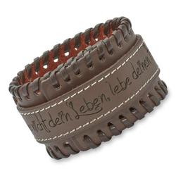 Braunes Leder-Armband Ziernähte