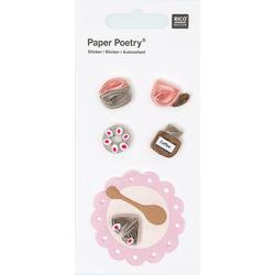 Quilling Sticker Kaffeeklatsch rosa