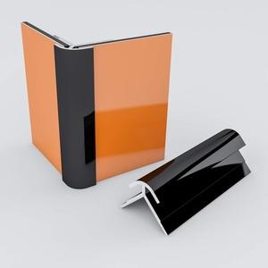 Duschrückwand-Profilsystem Außeneckprofil Aluprofil Aluminiumprofil für 3mm Duschrückwand Küchenspiegel 300cm schwarz