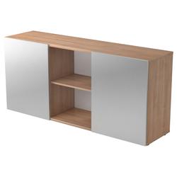 KAPA 1780 | Sideboard | mit Schwebetüren - Nussbaum/Silber Sideboard