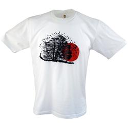 Guru-Shop T-Shirt Fun T-Shirt - Vogelflug L