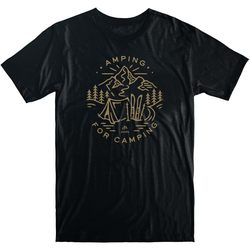 Tshirt JONES - Tee Amping For Camping Black (BK) Größe: XL