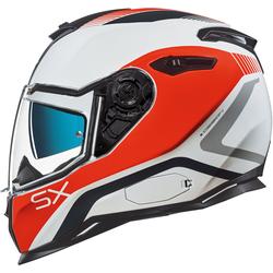Nexx SX.100 Popup Helm, weiss-orange, Größe XL
