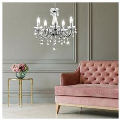etc-shop Kronleuchter, Hänge Leuchte Kronleuchter Kristall Luster Decken Lampe Schlaf Zimmer Beleuchtung
