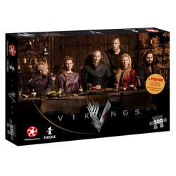 Winning Moves Steckpuzzle Puzzle Vikings Ragnar's Court 500 Teile, 500 Puzzleteile