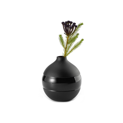 PHILIPPI Tischvase Philippi Negretto Vase S schwarz aus Aluminium Höhe 16 cm
