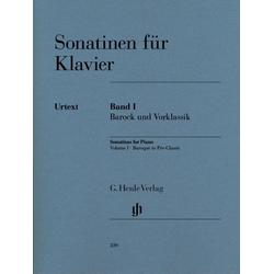 Sonatinen für Klavier Band I Barock und Vorklassik als Buch von