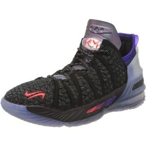 Nike Lebron 18 NRG Basketball Shoe, Black/Fierce Purple/Metallic Silver/Multi-Color, 40 EU