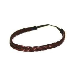 MyBeautyworld24 Haarband Haarband geflochten Zopf elastisches Haarband Haaraccessoire Haarteil Stirnband Extensions Kunsthaar rot