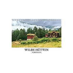 Wilde Hütten Norwegen (Tischkalender 2021 DIN A5 quer)