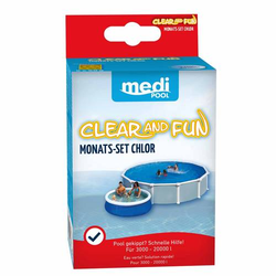 mediPOOL Chlor PLUS Mini 250g, Pools Chlortabletten, Poolreinigung, Desinfektion