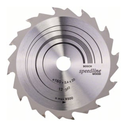 Bosch Kreissägeblatt Speedline Wood 160 x 20 x 2,2 mm 12