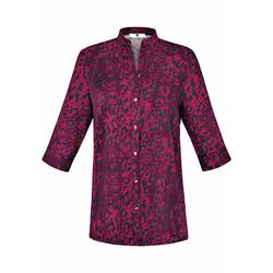 Kurzarmbluse Bluse mit 3/4-Arm Anna Aura dunkelpink/pink