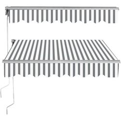 COSTWAY Markise Gelenkarmmarkise, Sonnenmarkise, Balkonmarkise, Terrassenmarkise, Klemmmarkise mit Kurbel, für Balkon und Veranda, 2,5x2m grau