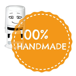NIO Stempelmotiv - 100 % handmade-badge