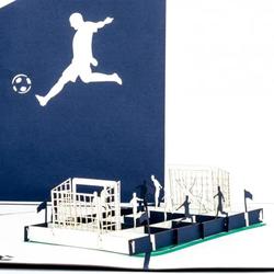 Colognecards Pop-Up Karte Fussballfan blau / weiss