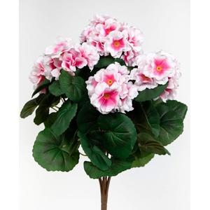 Geranie 38cm rosa -ohne Topf- ZF Kunstpflanzen künstliche Blumen Pflanzen Kunstblumen ... (rosa)