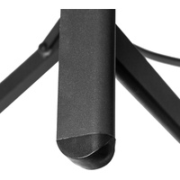 Tectake Melbourne Rattanstuhl 58 x 68 x 107,5 cm schwarz klappbar