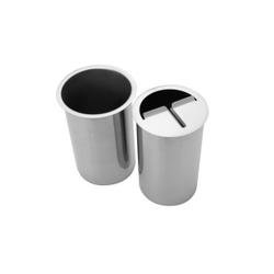 SCHNEIDER Messer-Abstreifbehälter Einbaumodell, Aus Edelstahl für den Gastrobedarf, 1 Stück