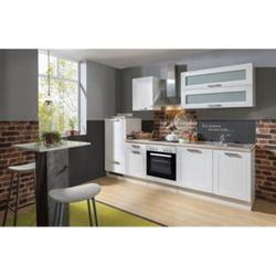 Menke Küchen Küchenzeile Premium White Landhaus 280 cm, inkl. Geschirrspüler