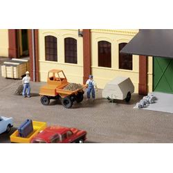 Auhagen 41641 H0 Dumper mit Kompressoranhänger Kunststoffmodell
