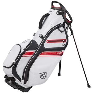 Wilson Staff Golftasche, EXO II Carry Bag, Tragetasche, Weiß/Schwarz/Rot, Integrierter Ständer, 2,3 kg, WGB6600WH