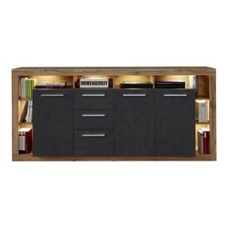ebuy24 Sideboard Rominia Sideboard 3 Türen, 2 Schubladen, 8 Ablagen