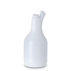 1000 ml bauchige Sprühflasche - natur - DIN 28