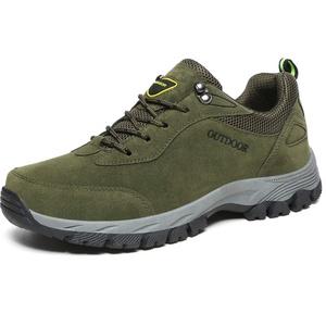 Lilichan Herren Casual Anti-Rutsch-Wanderschuhe Wasserdicht Leichte Atmungsaktive Arbeit Trekking-Schuhe (48 EU, Grün)