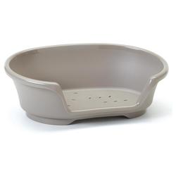 Nobby Kunststoff Bett Cosy-Air warmgrau für Hunde, Maße: 65 cm