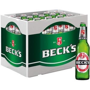 BECK'S Pils Flaschenbier, MEHRWEG (20 x 0.5 l) im Kasten, Pils Bier