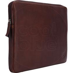 BlueBuilt 14-Zoll-Laptophülle Breite 33 cm - 34 cm Leder Braun