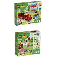 Lego Duplo Dampfeisenbahn 10874 + Duplo  Eisenbahn Schienen 10882