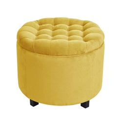 Pufa Okrągła z pikowanym siedziskiem