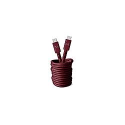 FRESH 'N REBEL Fabriq USB-C auf USB-C Kabel 3 0m  Ruby Red