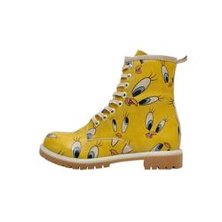 DOGO Tweety in Yellow Stiefel Vegan 36