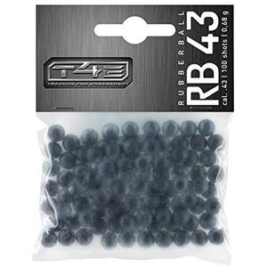 T4E Home Defense Rubberballs cal43 100Stück schwarz