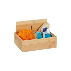 relaxdays Aufbewahrungsbox Aufbewahrungsbox mit Deckel